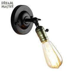 Vintage Mini kinkiet z włącznikiem on off oświetlenie przemysłowe lampa retro regulowane kinkiety do kawy kolumna świetlna oprawa oświetleniowa Lampy ścienne Lampy i oświetlenie -