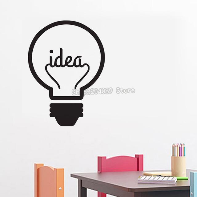 Idea Symbol Motivation Wall Stickers Home Decor Living Room Bedroom