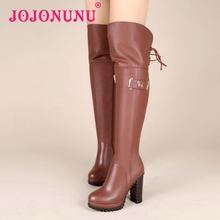 women real genuine leather high heel over knee boots cross strap winter riding long boot quality footwear shoes R8183 size 34-39