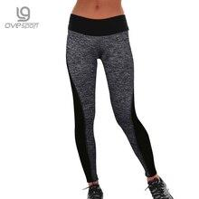 Plus Size Black/Gray Women's Fitness Leggings Workout Pants Panelled Ladies High Waist Leggins Quick-drying Wear Trousers CK1006