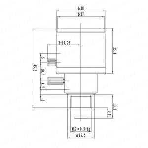 Image 5 - 5 メガピクセルバリフォーカルレンズ ir フィルタ 6 22 ミリメートル M12 マウント 1/2 5 インチマニュアルフォーカスとズームアクションカメラ長距離ビュー