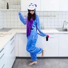 Единорог Пижама для взрослых мультфильм пара Пижама Kigurumi Пижама в виде  единорога Покемон ИА синий Стич Пижама Кигуруми для a. f88274b50d2da