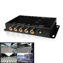 ИК управление 4 камера s видео управление автомобиля камера s изображение переключатель Combiner коробка для левый вид правый вид спереди и сзади Парковка коробка для камеры