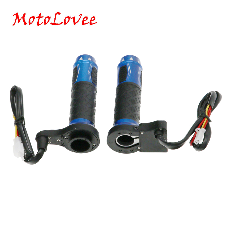 MotoLovee Motorcycle Heated Grips Motorbike ATV Scooter Electric Hot Grip 22mm 7/8