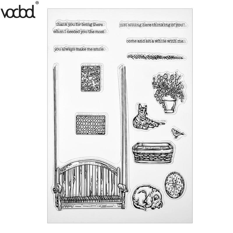 Transparent Clear Silicone Seals DIY Dog Cat House Stamp Scrapbooking Album Photo Card Book Decoration Supplies Gifts