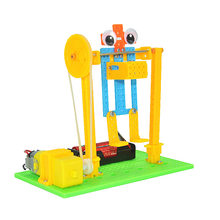 DIY horizontal bar robot model Steam Toys boy girl sports toys science teaching aid children learning products free shipping(China)
