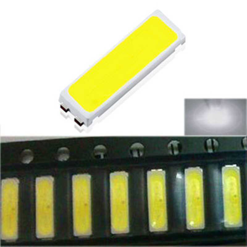 100pcs 7030 <font><b>SMD</b></font> <font><b>LED</b></font> TV Backlit For <font><b>LG</b></font> Innotek High Power Cold White Diodes 90LM 6V <font><b>SMD</b></font> 7030 TV Television Backlight Super Bright image