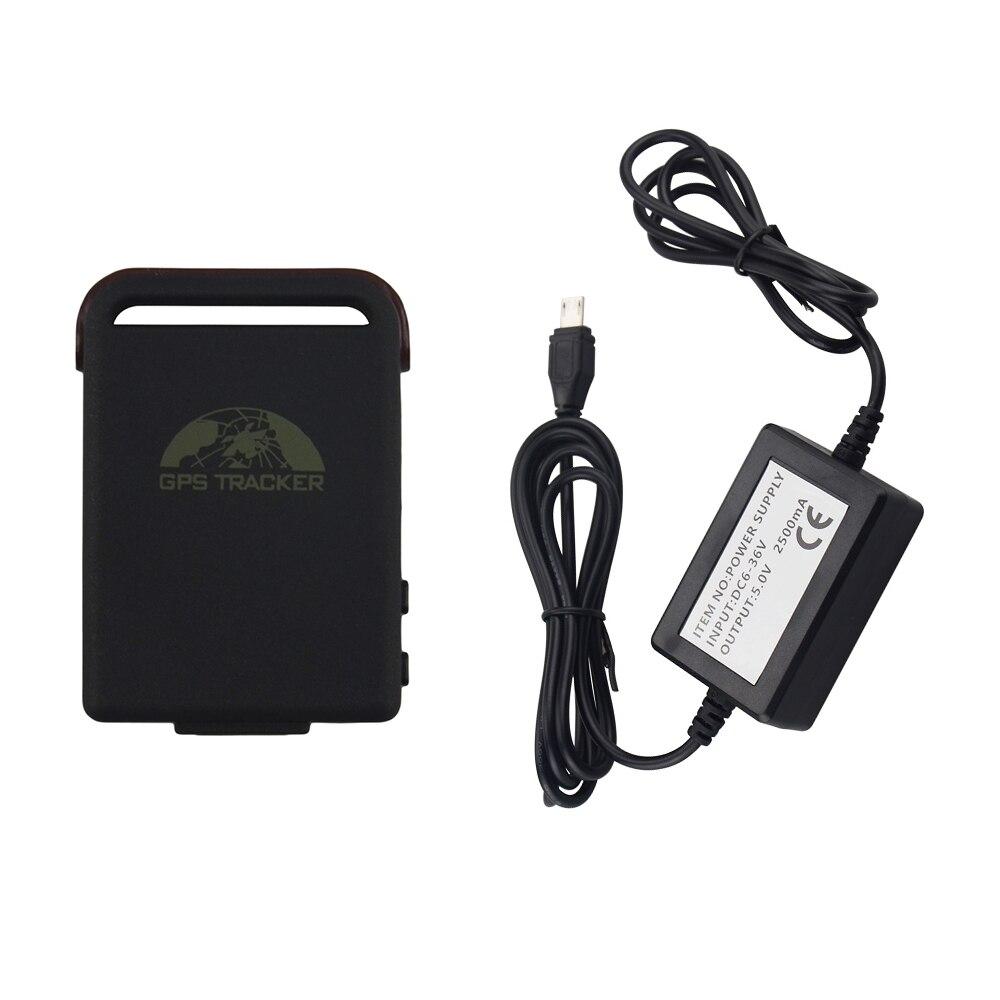Coban véhicule gps tracker TK102C voiture cachée GSM GPRS GPS dispositifs de suivi Charge filaire système d'alarme antivol de sécurité de voiture