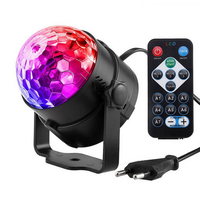 1m Cable 7 Colors DJ Disco Ball Lumiere 3W Sound Activated Laser Projector RGB Stage Lighting