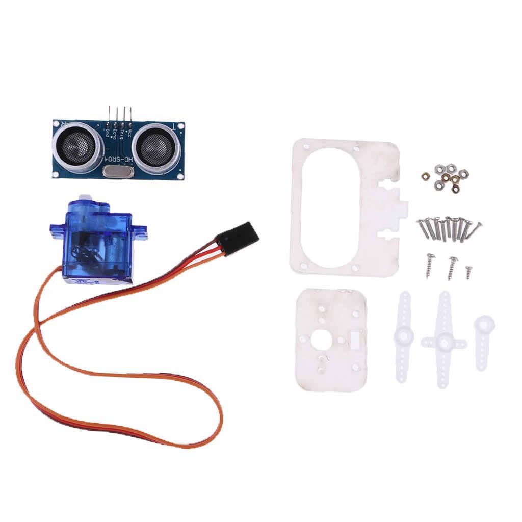 Placa de Sensor de transductor de medición de distancia ultrasónica con Kit de soporte de Servo 9G para Arduino Robot Smart Car Micro controlador