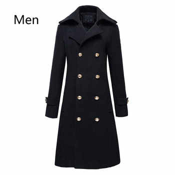 Winter Mens Military Double Breasted Wool Blend Long Jackets For Man Female Cotton Padded Warm Long Coats Male Windbreakers - DISCOUNT ITEM  6% OFF All Category