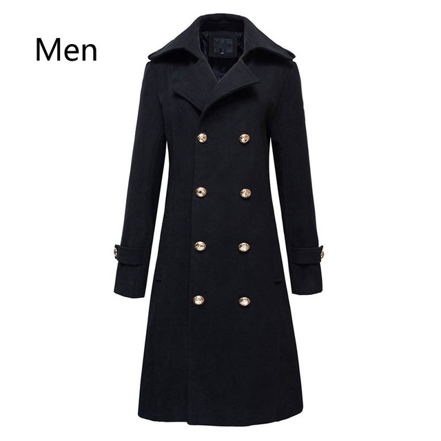 1ed8812e7 US $56.69 10% OFF| Winter Mens Military Double Breasted Wool Blend Long  Jackets For Man Female Cotton Padded Warm Long Coats Male Windbreakers-in  Wool ...