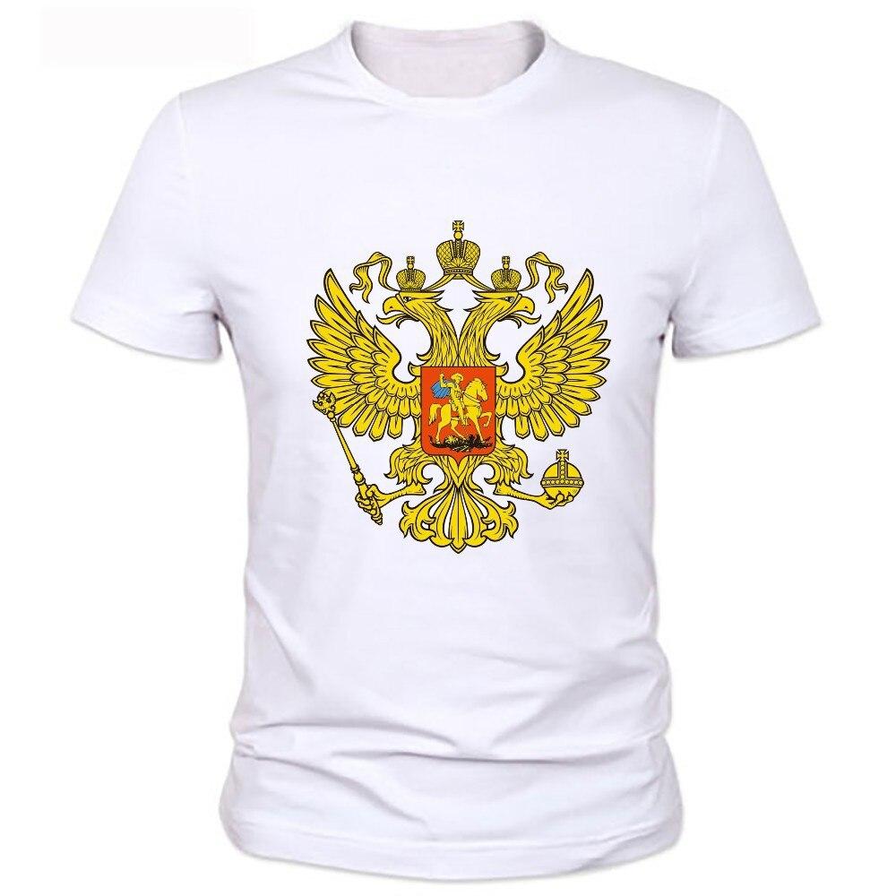Golden double-headed eagle printing T-shirt 2020 hommes du t - shirt original avec des motifs aigle et russie sizel chemises