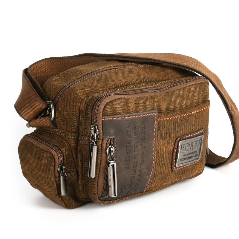 Ruil Multifunction Man Messenger Retro Canvas