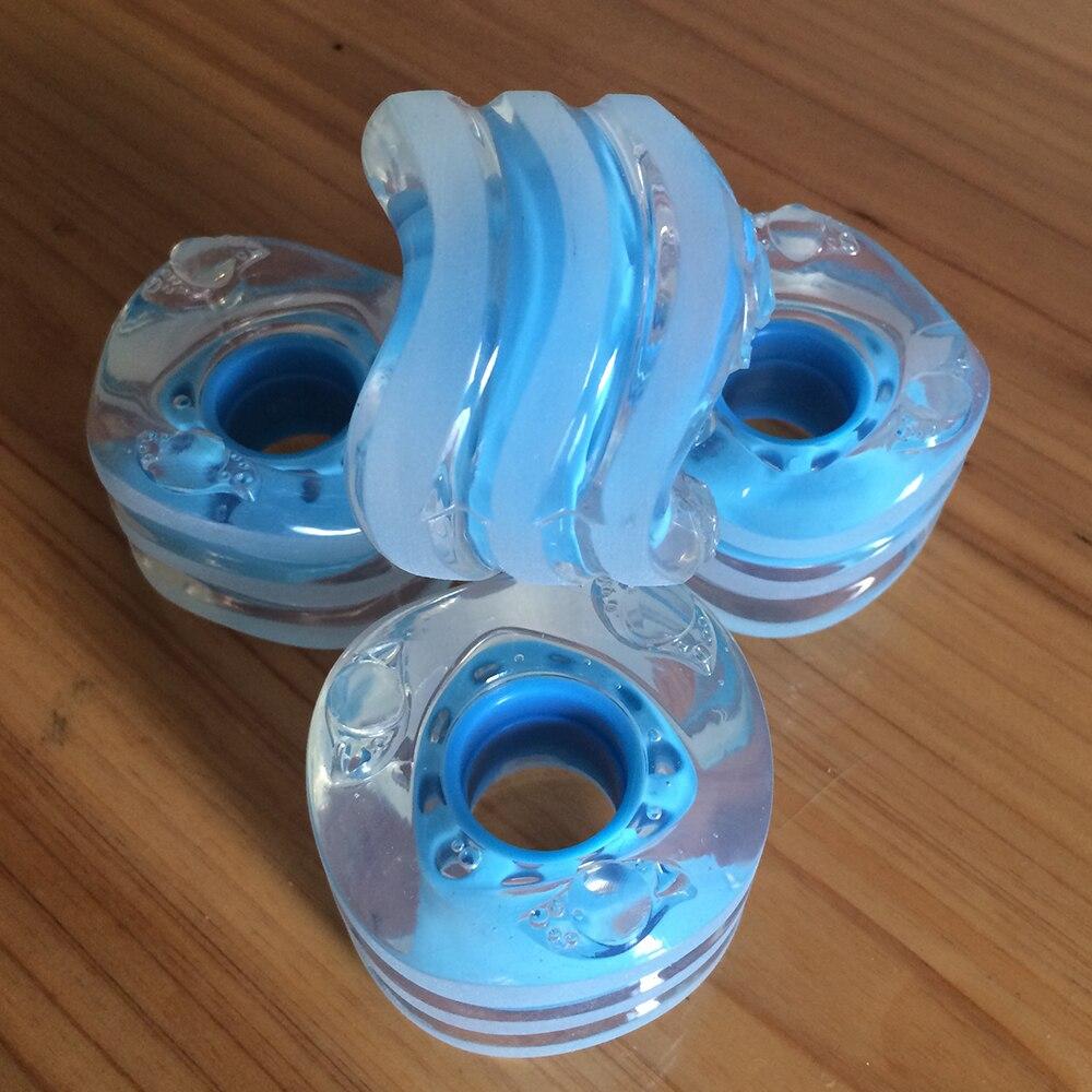1 Juego (4 piezas) rueda de estilo tiburón Sidewinder Longboard ruedas 85A 60mm