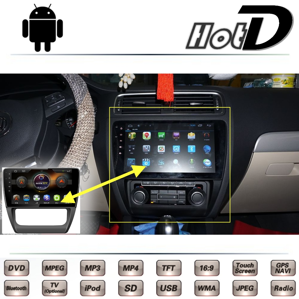 For Volkswagen VW Jetta MK6 A6 2011 2012 2013 2014 2015 2016 Car Multimedia DVD Player GPS Navigation Android System Big Screen
