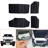 Black Hardtop Sound Deadener Headliner Insulation For Jeep JK Wrangler 4 Door 2011 2017 Hard Top