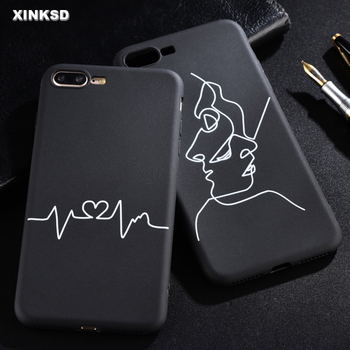 Painting Abstract Line Phone Case For iPhone XS MAX XR X 5 S 5S SE Silicone Soft Back Protection Case For iPhone 7 8 6 S 6 Cover iPhone XS