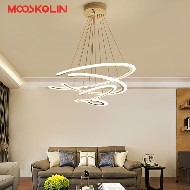 2018 New Modern led pendant lights for living room dining room 4/3/2/1 Circle Rings acrylic LED Lighting ceiling Lamp fixtures led modern pendant lights lamp for living room dining room 4 3 2 1 circle ring acrylic led lighting kitchen hanging lamp fixture