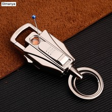 New Top Charm Key Chain Men Women Brand Cigarette lighter multi-function Key Holder Best Gift Jewelry Best Gift Jewelry K1178(China)