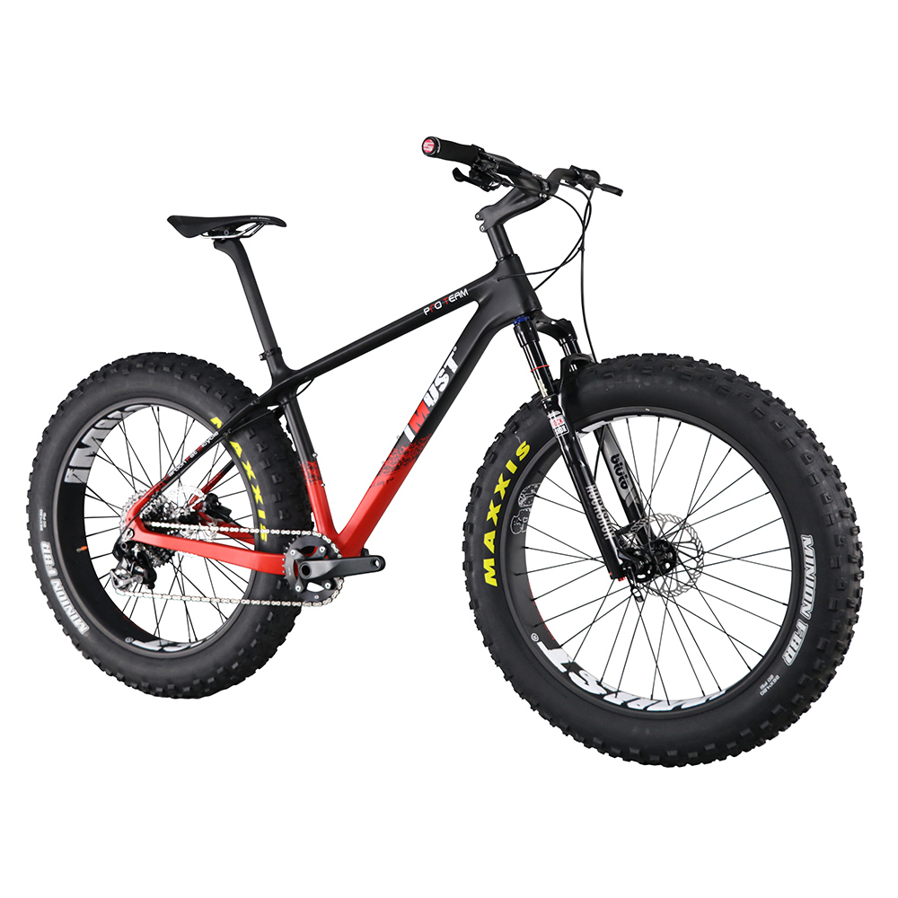 Professional Carbon Fat Bike Imust 2017 26er Fat Bike 100mm Front