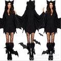 2017new Sell likehot cakes Sexy Halloween Costumes for girl Moonlight Bat CostumeBest Selling Bat Women's Halloween CostumeWomen