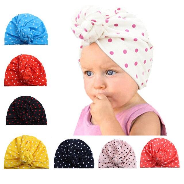 ef32bf171d2 Autumn Winter Cute baby cap Newborn Toddler Kids Baby Boy Girl Turban  Cotton Beanie Hat Winter Warm Cap Photo Props Accessories