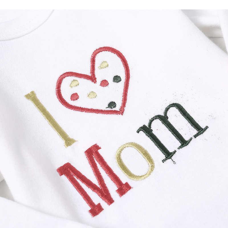 Рядом симпатичный 3 шт./лот зимние детские комбинезоны для младенцев, одежда боди с длинным рукавом боди, комбинезон для новорожденных