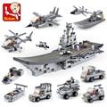 9 шт./лот Военно Звездные войны Космический Корабль Строительные Блоки Устанавливает Кирпич Мальчик Игрушки Самолет Авианосец Совместимые с Lego
