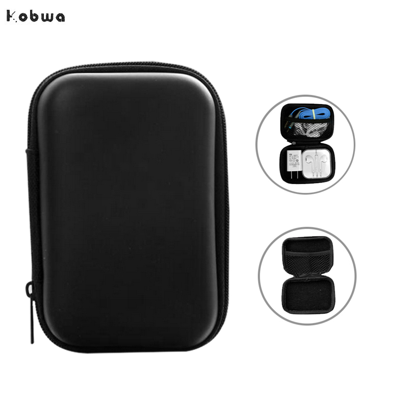 EVA PU Storage Case For Headphones Earphone Earbuds Carrying Hard Bag Box Case For Keys Coin Travel Earphone Oraganizer