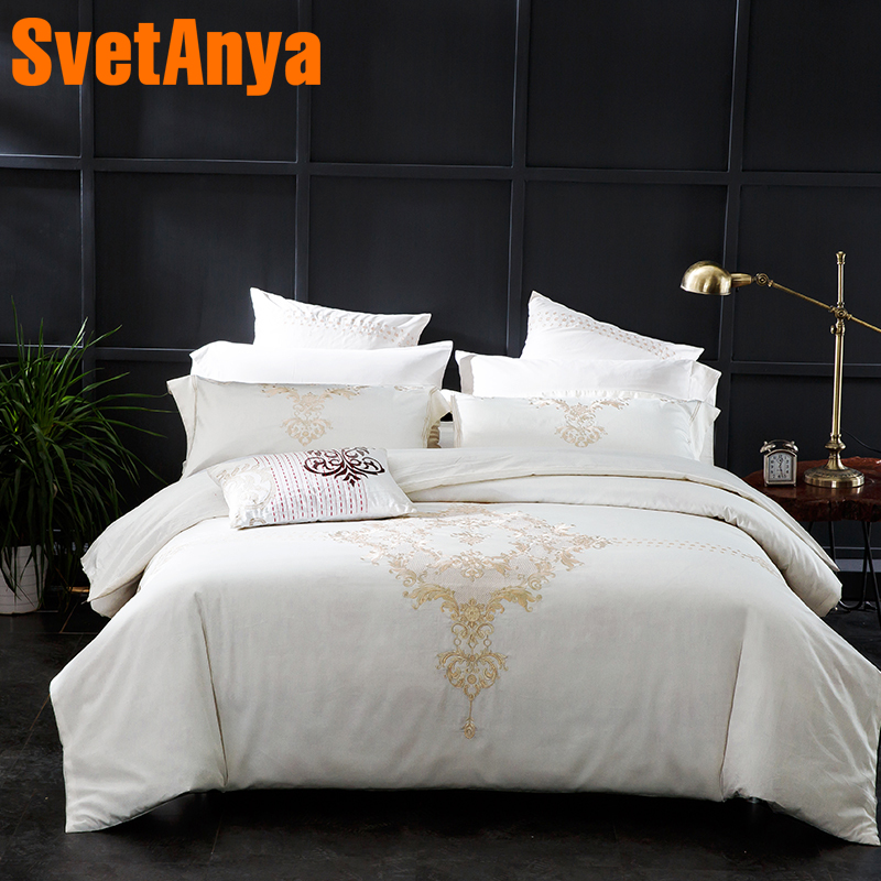 Super King Size Duvet Cover Egyptian Cotton Sweetgalas: Svetanya Embroidered Egyptian Cotton Bedding Sets Queen
