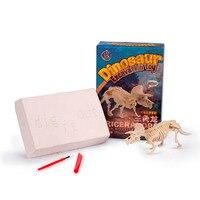 Ukenn T-Rex Khủng Long Khai Quật Kit 3D Jurassic Dino Mô Hình Động Vật Giáo Dục Trẻ Em Đồ Chơi cho Trẻ Em Skeleton Khối