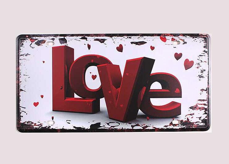 ₪Syf-00146 nueva llegada recuerdo letra amor Metal vintage Marcos de ...