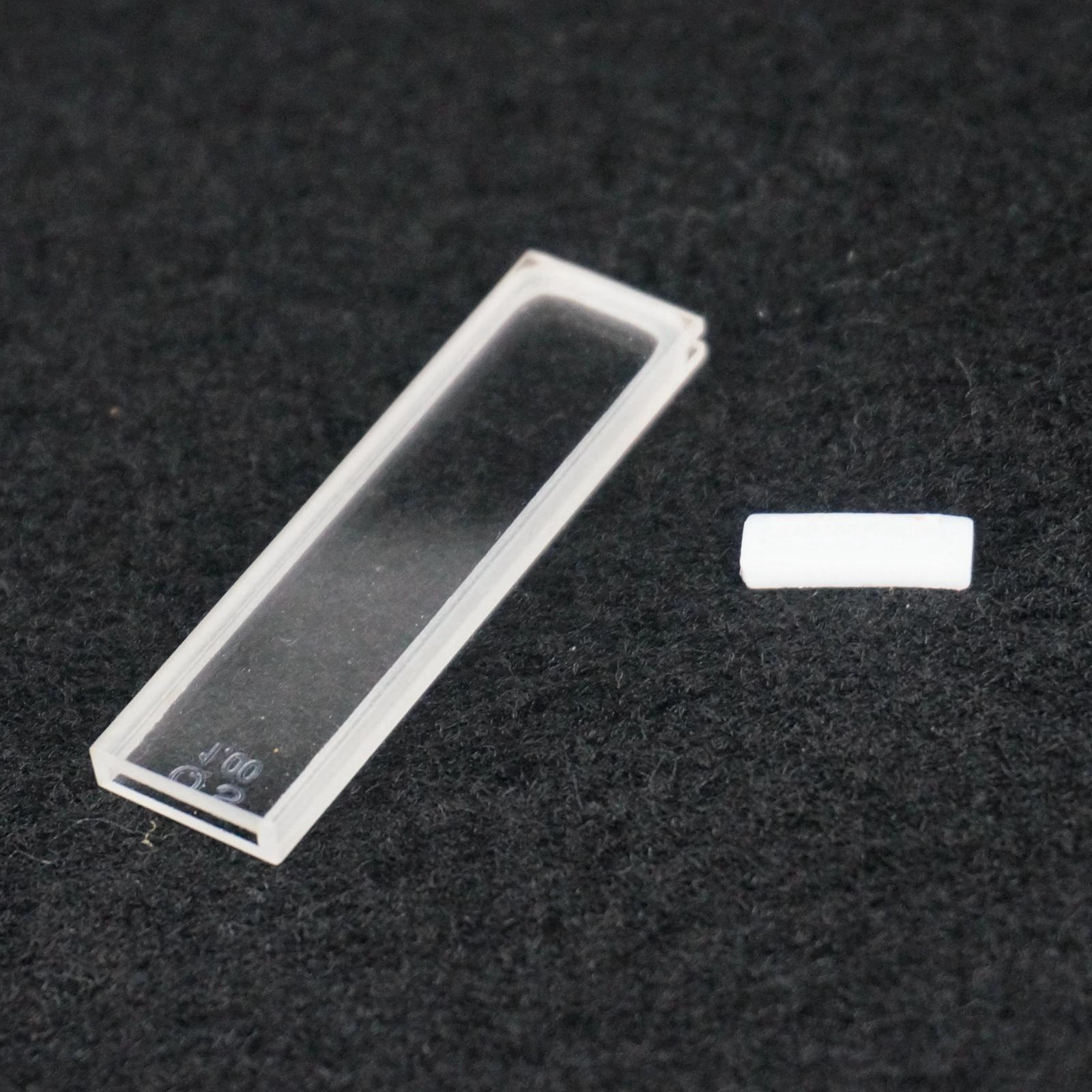1mm Path Length JGS1 Quartz Cuvette Cell With PTFE Lid For Uv Spectrophotometers