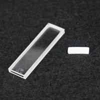 1mm Path Length JGS1 Quartz Cuvette Cell With Telfon Lid For Uv Spectrophotometers