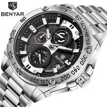 นาฬิกาผู้ชายใหม่นาฬิกา BENYAR สุดหรูแบรนด์นาฬิกาควอตซ์ชายนาฬิกาทหารอัตโนมัติวันที่กันน้ำ Chronograph Relogio Masculino