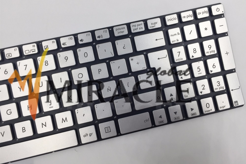 Repair You Life New Latin keyboard For Asus N551 N551J N551JB N551JK N551JM N551JQ with backlit LA/SP version silver color