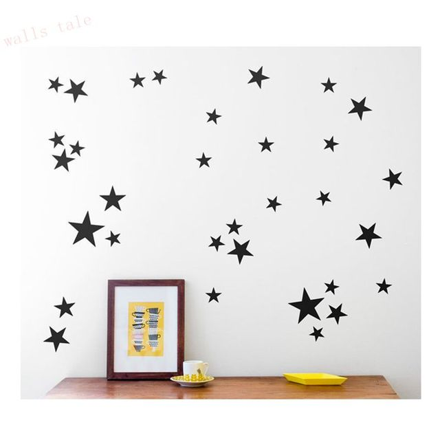 Gold Stars Pattern Vinyl Wall Art Decals Nursery Room Decoration Wall  Stickers For Kids Rooms Home Part 94