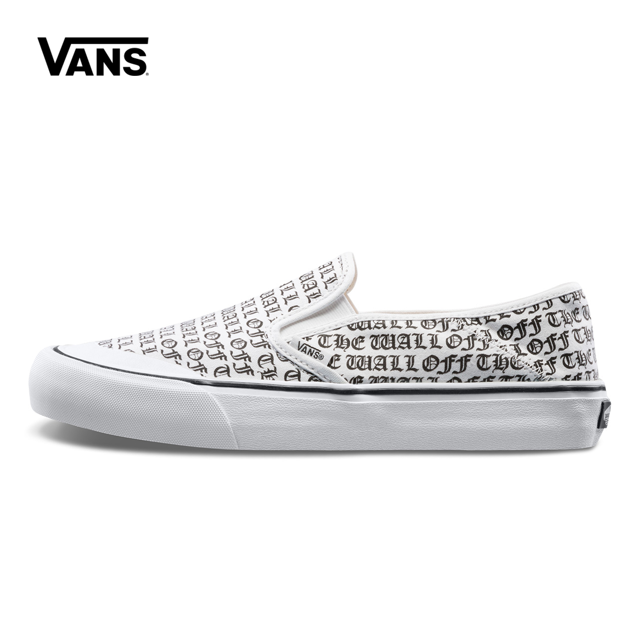 White Letter Printed Vans Sneakers Men Women Slip-On Low-top Skateboarding Shoes Sneakers Classic Canvas Shoes VN0A3MVDT1Z original vans shoes white color unisex women men low top skateboarding shoes sports shoes slip on list canvas sneakers