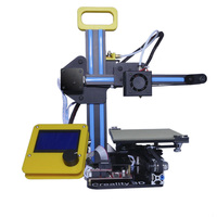 Portable CR-7 Mini 3D Printer FDM LCD Off-line Printing Self-assembly DIY Kit Lightweight for Artistic Design Free shipping