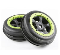2pcs rc car front sand tyres set with whell hub assembly for HPI racing 5B 5T 5SC LOSI TDBX FS MCD toys gasoline truck