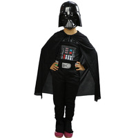2018 Fashion New Kids Boy Black Knight Darth Vader Cosplay Costume Halloween Clothes Costume For Children