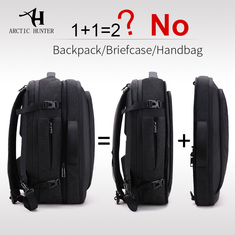 ARCTIC HUNTER Disassemble Multifunction 17 inch Laptop Backpacks For Teenager Business Male Mochila Men Travel Backpack Bag-in Backpacks from Luggage & Bags    1