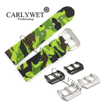 CARLYWET 24mm Wholesale Camo Light Yellow Waterproof Silicone Rubber Replacement Wrist Watch Band Strap Belt For Luminor