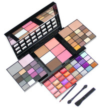 Popular Global Fashion 74 Color Eyeshadow Palette Women Lip Gloss Blush Foundation Gold Sequins Makeup Set Hot Sale