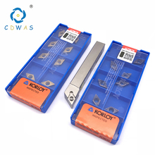 10 шт KORLOY 100% оригинал DCMT070204 HMP NC3020 или PC9030 карбида вставки + 1 шт SDJCR1010F07 резец для внутренней обточки держатель комплект