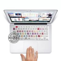 Adobe Premiere Pro Shortcut Keys Soft Silicone Protection Sticker Keyboard Skin For 13 15 Apple Macbook