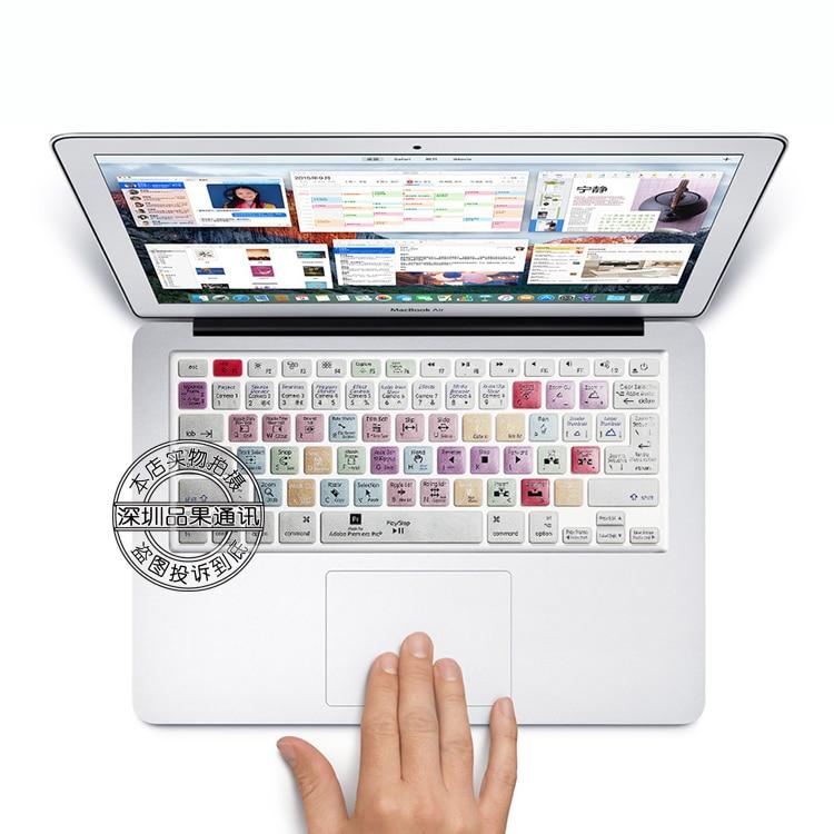 Adobe Premiere Pro touches de raccourci souple de Protection en Silicone autocollant clavier de la peau pour 13