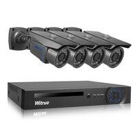 Witrue 8CH видеонаблюдения Системы 1080 P AHD H DVR 2.0MP sony IMX323 безопасности Камера открытый Водонепроницаемый охранных Системы