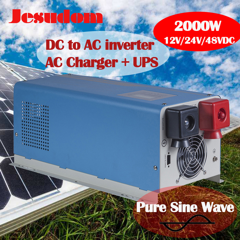 UPS Off Grid Inverter 2KW 2000Watts DC To AC Toroidal Transformer Inverter Pure Sine with AC